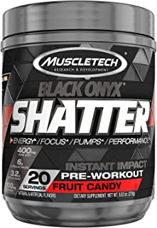 Pre Workout Powder | MuscleTech Shatter Pre-Workout | Preworkout for Men & Women | Featuring Creatine, Beta Alanine, L Cit...