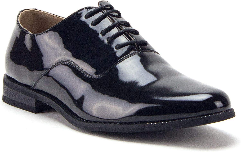 Men's 86214 Classic Black Patent Leather Formal Oxfords Dress Shoes