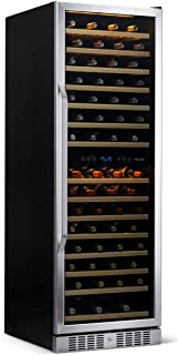 NewAir Wine Cooler Built In Dual Temperature Zone 160 Bottle Chiller, AWR-1600DB, Stainless Steel