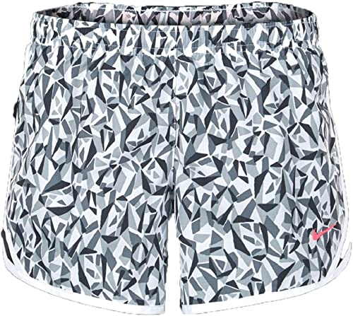 NIKE Little Girls' Tempo Shorts (4, blanc Cool gris Hyper rose)
