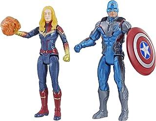 Marvel Avengers Team Pack Cap y Capitana Action Figure