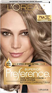L'Oreal Superior Preference Hair Color [7-1/2A] Medium Ash Blonde (Cooler) 1 Each (Pack of 2)
