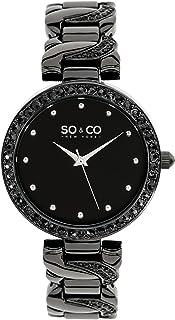 SO   CO New York Women s 5062.4 SoHo Analog Display Quartz Black Watch 3c3914c568