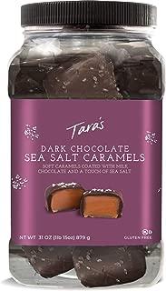 Tara's Small Batch Chocolate Covered Sea Salt Soft Caramels, Dark, 31 Ounce X 2, 62 Ounce (Pack of 2)