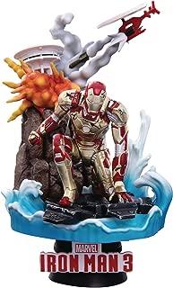 floating iron man statue