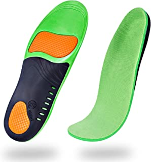 Professional Arch Support Orthotic Insoles (2 Pairs) Plantar Fasciitis Arch Pain Flat Feet High Arch Orthotic Insoles for Men & Women & Kids