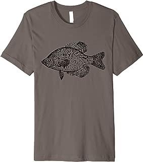 Crappie Fish vintage Scientific Illustration Fishing Art Premium T-Shirt