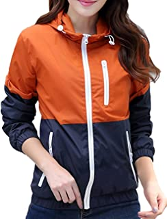 Yxiuexur Womens Lightweight Windbreakers Sun Protection Outdoor Hooded Sports Outwear Quick Dry Jacket Lovers Coat
