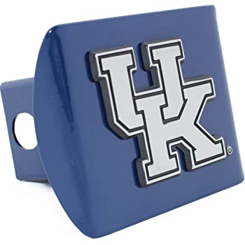 University of Kentucky Wildcats Brushed Silver with Chrome UK Emblem NCAA College Sports Metal Trailer Hitch Cover Fits 2 Inch Auto Car Truck Receiver Elektroplate UK-BRU-HC