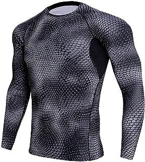 Men's Compression Quick Dry Baselayer Snake Sweat Shirts Slim Fit Shapewear