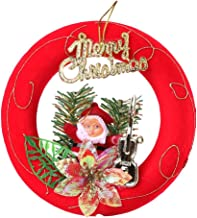 CueCuePet Rockin Merry Christmas Themed Decoration Top Bow-Guitar Santa Holiday Ornament One Size Red