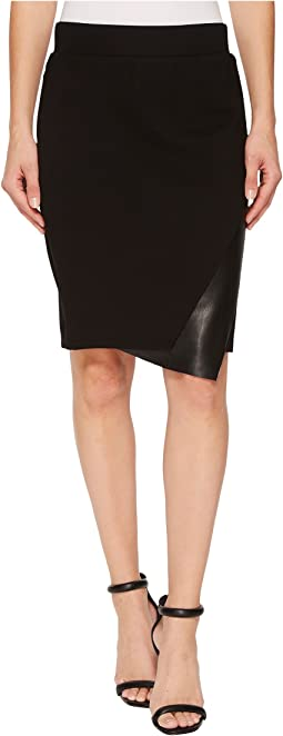 "Pull-On 22"" Knit Ponte Multi Panel Skirt"