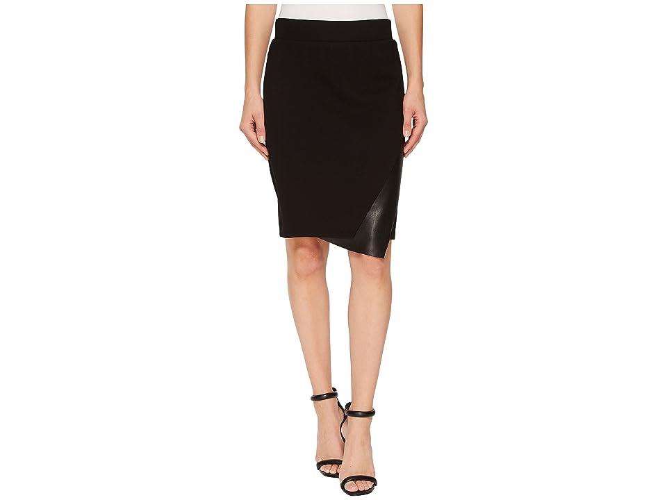 Tribal Pull-On 22 Knit Ponte Multi Panel Skirt (Black) Women