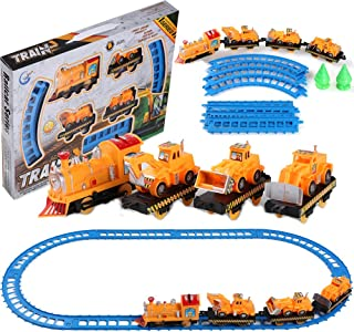 Roxie Kids Railway Train and Truck Play Set Construction Toy Set