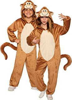 Forum Novelties Child's Monkey Costume Jumpsuit, Brown, Medium
