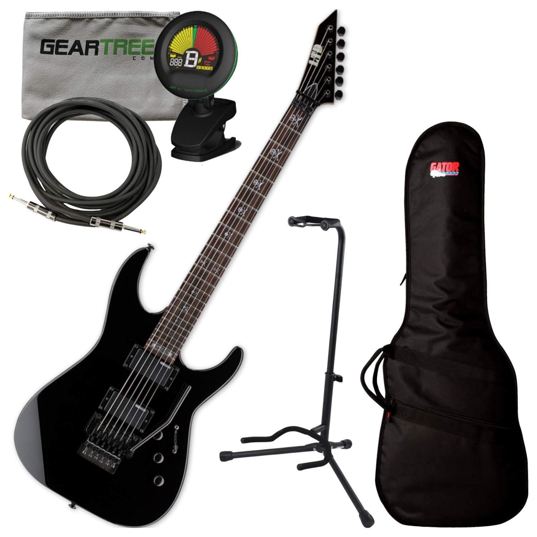 Cheap ESP KH-202 Kirk Hammett Signature Series Black Electric Guitar Bundle Black Friday & Cyber Monday 2019