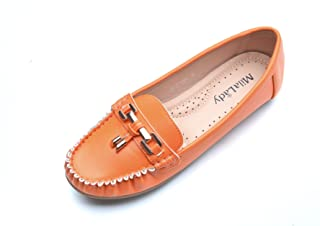 Mila Lady Fashion Colorful Causal Slip on Loafers Moccasin Walking Driving Indoor Flat Shoes for Women