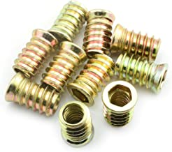 "POWERTEC QTI1004 3//8/""-16 Threaded Insert for Wood 50 Pack Zinc Plated Screw-in Nut for Woodworking Superior Fastening for Hard and Soft Wood and More a Woodworking Shop Essential"