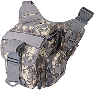 JQNPP Tactical Messenger Bag EDC Sling Pack Fishing Tackle One Shoulder Bag Military Multi-Functional Utility Pouch Outdoor Waist Bum Bag,B