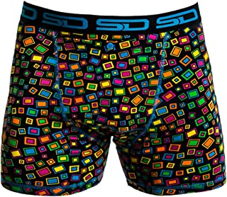 Smuggling Duds Men's Stash Boxer Brief Shorts - Pickpocket Proof Travel Secret Pocket Underwear