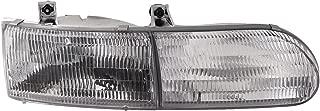 HEADLIGHTSDEPOT Chrome Housing Halogen Right Passenger Headlight Compatible With Fleetwood American Tradition 1996-2000 Motorhome RV