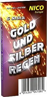 24 Gold- und Silberregen Handfontäne Jugendfrei Ganzjahres Party Feuerwerk