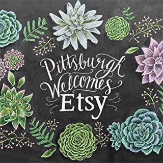 5D Diy Diamond Painting By Number Kits, Pittsburgh Welcomes Etsy Flowers,9.8 X 9.8 Inch(Frameless)
