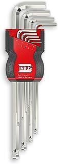 Inbus® 70167 Zestaw Kluczy Imbusowych z Głowicą Kulową 9-Częściowy
