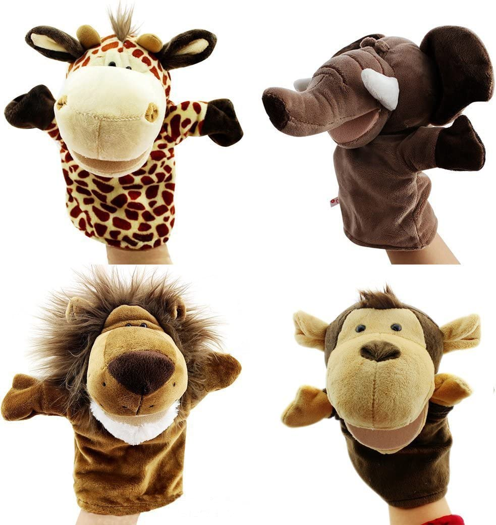 Weekly update TIANLE Hand Puppet Toy Animal Glove Doll Set Max 46% OFF Plush Movable Mouth