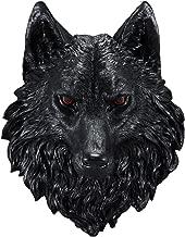 Ebros Large Underworld Lucian Black Wolf Head with Blood Eyes Wall Decor Plaque 16.5