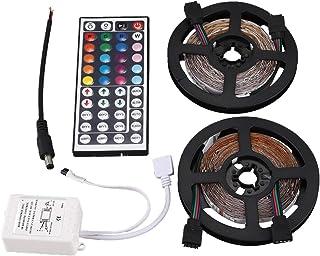 JVSISM 10m 2x5M 3528 SMD 600 LED String Strip Light RGB + Remote Control