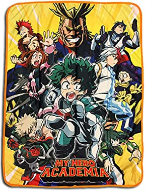 Great Eastern Entertainment My Hero Academia- Big Group Sublimation Throw Blanket,Multicolor,46Wx60L