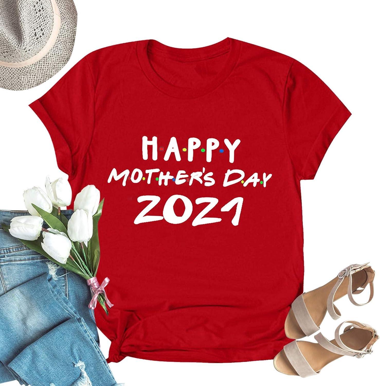 Aukbays Womens Tops Short Sleeve Mama Needs Wine Graphic T-Shirts O Neck Tees Blouses Shirts Tunic