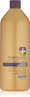 Pureology   Nano Works Gold Conditioner Revitalisant   Youth-Renewing Formula for Color Treated Hair   Sulfate-Free   Vegan