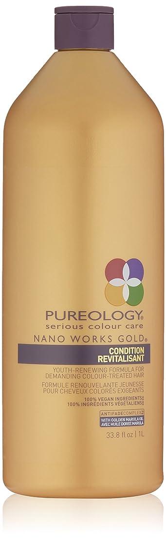 息を切らして接続詞禁止Pureology ナノワークスゴールドコンディショナーRevitalisant、33.8液量オンス 33.8オンス