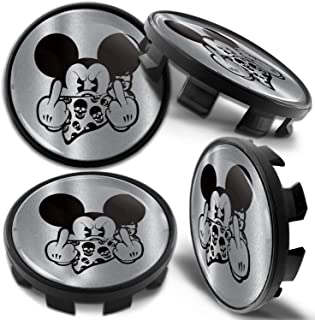 Biomar Labs 4 x Wheel Centre Alloy Hub Compatible with BMW Part Number 36136783536 Center Caps Hubcaps Mickey Mouse Middle Finger 68mm CB 1