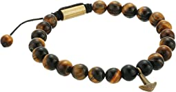 Tiger Eye Bead with Anchor Charm Bracelet