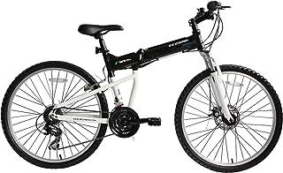 """Bicicleta Mtb Plegable Ecosmo 26Af18Bl con Ruedas de 26\"""", Marco de Aluminio, Cambios Shimano"""