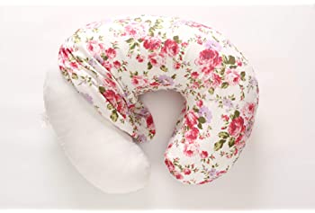 LAT Nursing Pillow and Positioner,Best for Mom Breastfeeding Pillow,100% Cotton Soft Fits Snug On Infant,Aseptic Vacu...