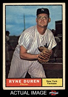 1961 Topps # 356 Ryne Duren New York Yankees (Baseball Card) Dean`s Cards 5 - EX Yankees