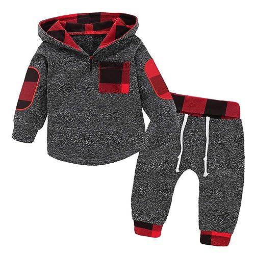 767c1bb8e Toddler Baby Boys Girls Stylish Plaid Floral Pocket Hooded Coat,Kids  Jackets Stretchy Cloak Tops