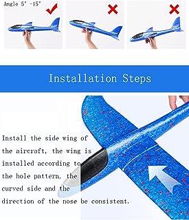 Skumflygplanleksaker-flygplansleksaker, 4 färger, 17,3 tum, stora kastskumflygplan, hållbara antikollisionsflygglidflygpla...