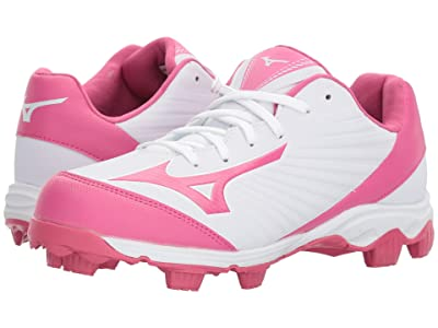 Mizuno 9-Spike(r) Advanced Finch Franchise 7 Softball (White/Pink) Women