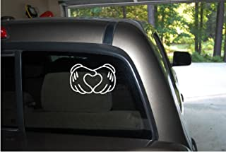 Classy Vinyl Creations Mickey Mouse Walt Disney Disney World Decal Car Truck Automotive Window Black or White Decal Bumper Sticker 4.3