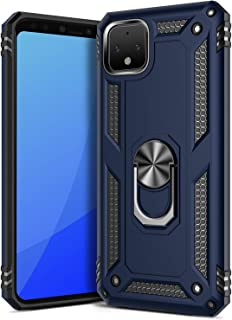GREATRULY Ring Kickstand Phone Case for Google Pixel 4 (2019),Heavy Duty Dual Layer Drop Protection Google Pixel 4 Case,Hard Shell + Soft TPU + Ring Stand Fits Magnetic Car Mount,Blue