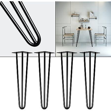 4er Tischkufen Hairpin Legs Haarnadelbeine Schreibtisch Tischbeine Esstisch 30CM