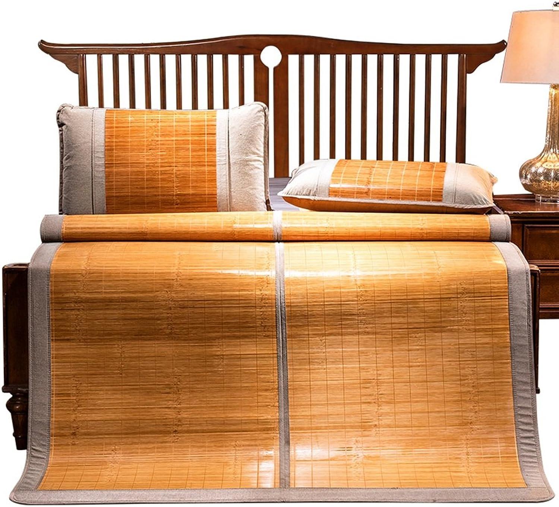 WENZHE Bambus Matratzen Sommer-Schlafmatten Strohmatte Teppiche Falten Doppelseitige Verwendung Poliersitz Zuhause Schlafsaal, 6 Größen (größe   1.8×2.0m) B07CTQ4YMT  Starker Wert