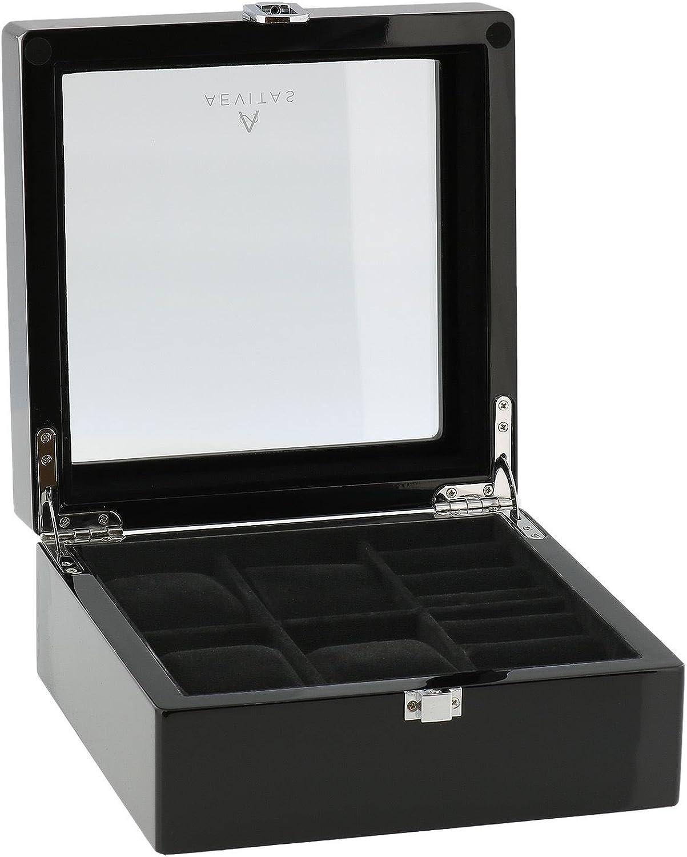 25% OFF Piano Black Watch and Cufflink Superlatite Collectors Watche Box Wrist 4 for