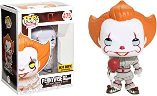 Funko Pennywise [w/ Balloon] (Hot Topic Exclusive) POP! Movies x It Vinyl Figure + 1 Classic Horror & Sci-fi Movies Trading Card Bundle (21861)