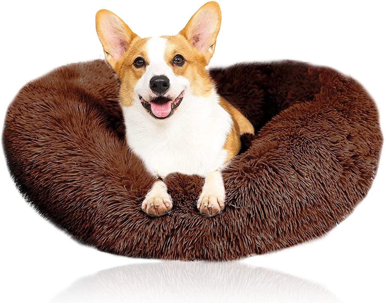ZINGYUE Pet Bed Dog Round Cat Donut Ranking TOP9 Washable Non Las Vegas Mall Sofa Pillow Sli